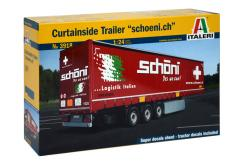 Italeri 1/24 Curtainside Trailer With Logo image