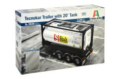 Italeri 1/24 Technokar Trailer with Tank image