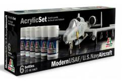 Italeri Modern USAF US Navy Aircraft Paint Set image