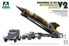 Takom 1/72 German V-2 Rocket with Transporter image