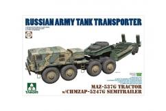 Takom 1/72 MAZ-537G Tractor with Chmzap Semi image
