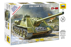 Zvezda 1/35 ISU-100 Soviet Tank Destroyer Snap Kit image