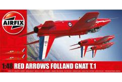 Airfix 1/48 Folland Gnat Red Arrows image