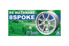 "Aoshima 1/24 Rims & Wheels - Watanabe 8Spoke 17"" image"