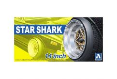 "Aoshima 1/24 Rims & Wheels - Star Shark 14"" image"
