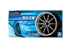 "Aoshima 1/24 Rims & Tires - Advan Racing RS-DF 19"" image"