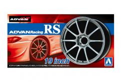 "Aoshima 1/24 Rims & Tires - Advan Racing RS 19"" image"