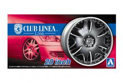 "Aoshima 1/24 Rims & Tires - Club Linea L566 20"" image"