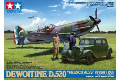 "Tamiya 1/48 Dewoitine D.520 ""French Aces"" with Staff Car image"