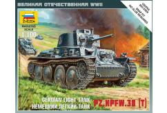 Zvezda 1/100 German 38T Tank Snap Kit image