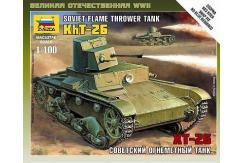 Zvezda 1/100 T-26 Flamethrower Tank image