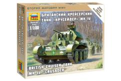 Zvezda 1/100 Crusader IV British Tank Snap Kit image