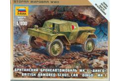 Zvezda 1/100 Dingo British Armored Car Snap Kit image