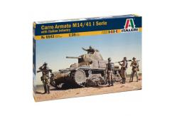Italeri 1/35 Carro Armato M14/41 w/IT Infantry image