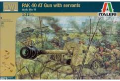 Italeri 1/32 WWII PAK 40 AT Gun with Servants image