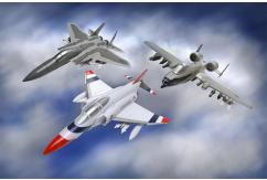 Revell 1/100 Modern Fighter 3 Pack Set image