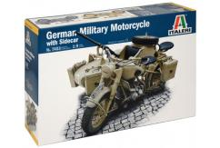 Italeri 1/9 German Military Motorcycle w/Sidecar image