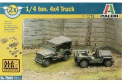 Italeri 1/72 WWII Willys Jeep - Fast Assembly 2 Kits image