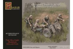 Pegasus Hobbies 1/72 German Infantry with Crew 75mm le IG18 image