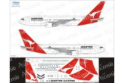 Ascensio 1/144 Qantas 767-200 Decal Set image