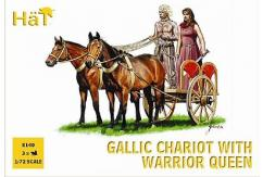 HaT 1/72 Gallic Chariot w/Warrior Queen (3 Pcs) image