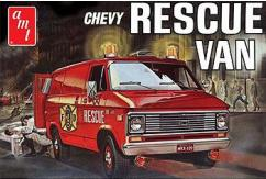 AMT 1/25 1975 Chevy Rescue Van Red image