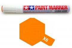 Tamiya X6 Gloss Orange Enamel Paint Marker image