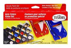 Testors Acrylic Paint Set Car 12 Piece image