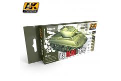 AK Interactive Olive Drab Colour Set image