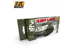 AK Interactive US Army & USMC Green Colours Set image