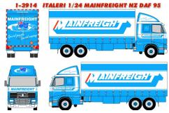 Italeri 1/24 Mainfreight Truck Decal Set Only image