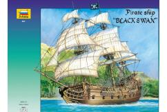 Zvezda 1/72 Black Swan Pirate Ship - 55cm image
