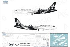 Ascensio 1/144 Air New Zealand A320 Black/White Decal Set image