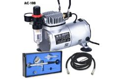 Fengda Mini Air Compressor with Gravity Feed Airbrush image