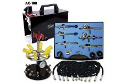 Fengda Mini Air Compressor with 6 Assorted Airbrushes image