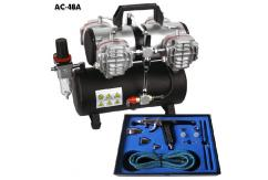 Fengda Two Switch Compressor with Tank & Pistol Airbrush Set image
