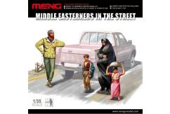 Meng Model 1/35 Middle Easterners In The Street (4pcs) image