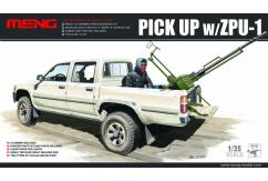 Meng Model 1/35 Hilux Pick-up with ZPU-1 image