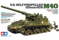 Tamiya 1/35 M40 U.S Self Propelled 155mm Gun image