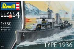 Revell 1/350 German Destroyer Type 1936 image