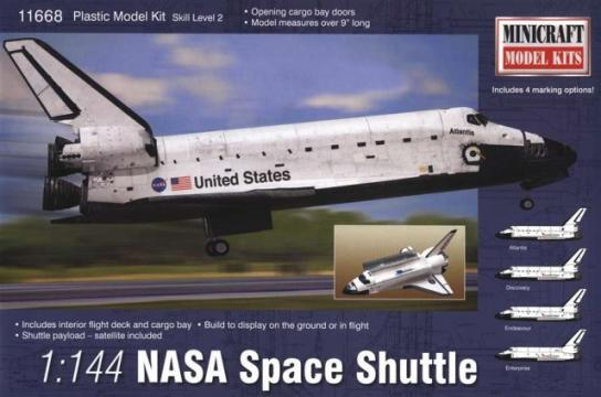 Minicraft 1/144 NASA Space Shuttle - 4 Markings Included  image