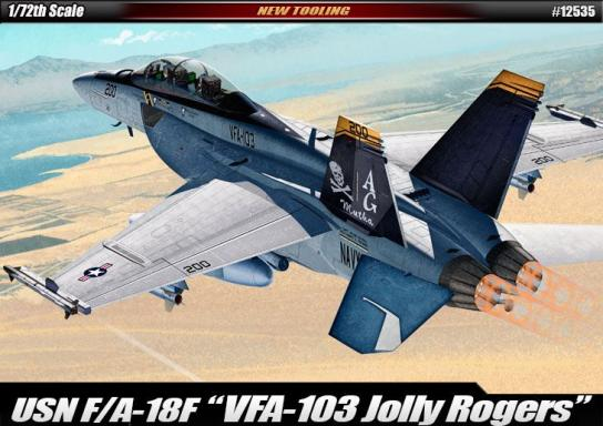 "Academy 1/72 USN F/A-18F ""VFA-103 Jolly Rogers"" image"
