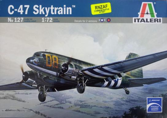 Italeri 1/72 Skytrain C-47 with Set of RNZAF Decals image