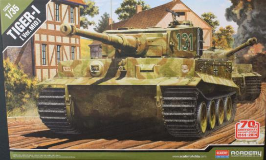 Academy 1/35 D-Day Anniversary Tiger I (New Mould) image