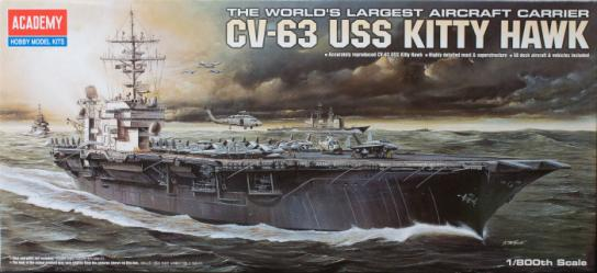 Academy 1/800 USS CVN-63 Kitty Hawk image