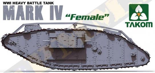 Takom 1/35 WWI Heavy Battle Tank Mark Iv Female image
