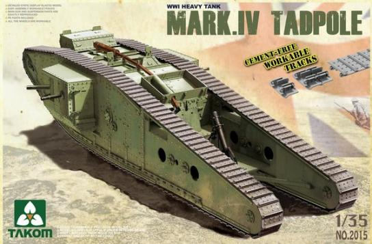 Takom 1/35 WWI Heavy Battle Tank Mark IV Tadpole image