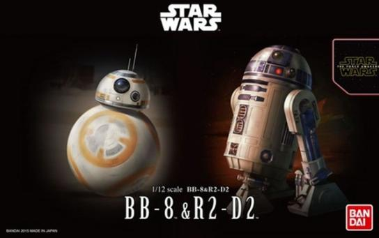 Bandai 1/12 BB-8 & R2-D2 - Snap Kit image