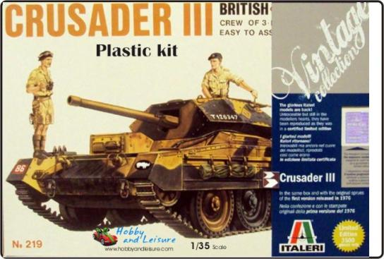 "Italeri 1/35 Crusader III ""Vintage Collection"" image"