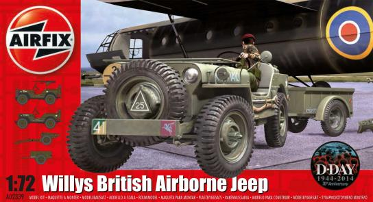 Airfix 1/76 Willys Jeep, Trailer & 6PDR Gun image